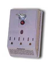 3 Outlet  w/ Ground AC Surge Protector