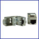 Cat 6 Shielded Jacks (snap-in) 180 Degree