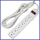 6Ft 6Outlet Surge Protector 15A, 90J