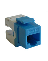 Cat 5e Jacks (snap-in) 180 Degree