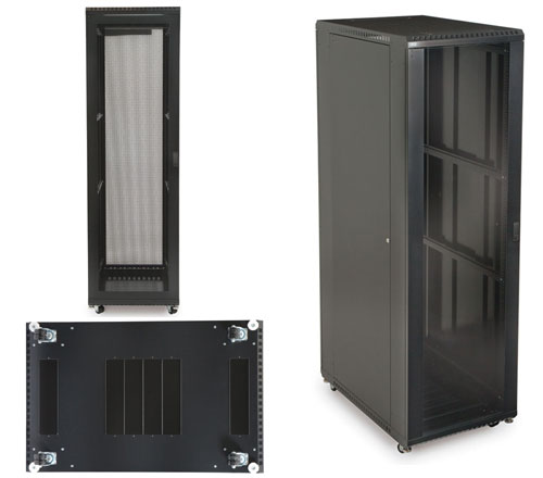42U Glass Front/Vented Rear Cabinet