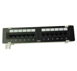 12 Port Comlink  Cat 5e Patch Panel (Compact)