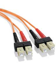 SC-SC Multimode Duplex Fiber Jumper Cables - 62.5/125