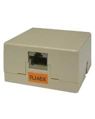 RJ48X Screw Terminal Surface Jack