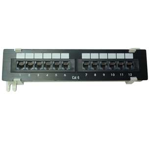12 Port Comlink Cat 6 Patch Panel (Compact)