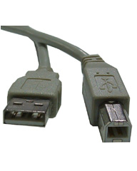 USB v2.0 Serial Data Cable AM-BM 6'