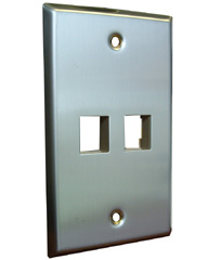 2 Port Stainless Steel Faceplate