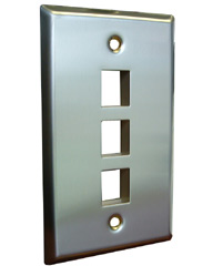 3 Port Stainless Steel Faceplate