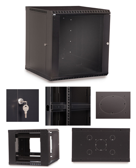 12U Fixed Wall Mount Cabinet