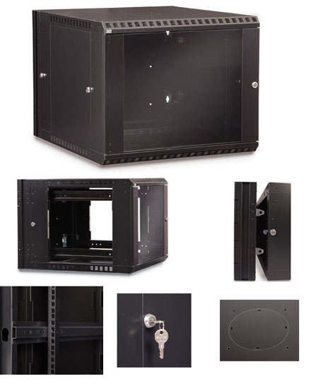 9U Swing-Out Wall Mount Cabinet