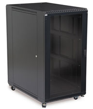22U Glass Front/Vented Rear Cabinet
