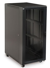 27U Glass Front/Vented Rear Cabinet