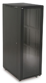 37U Glass Front/Vented Rear Cabinet