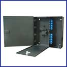 Multilink 24 Port Wall Mount Loaded w/ 24 LC Couplers