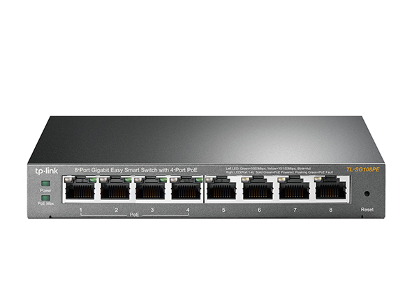 8 Port Gigabit Easy Smart Switch with 4 PoE