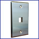 1 Port Stainless Steel Faceplate